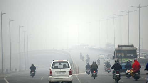 File photo: Dense fog in Delhi in the morning. (Rajesh Mehta/BCCL, New Delhi)