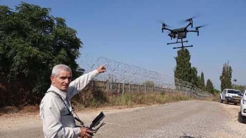 Green Police of the Israeli Ministry of Environmental Protection operates a spy drone near central Israeli city of Rishon Lezion on July 12, 2021. (Xinhua/Nick Kolyohin/IANS)