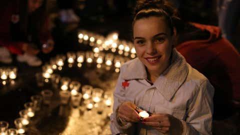 Earth Hour 2020 celebrations in North Macedonia. (©Earth Hour Macedonia)