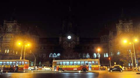 BMC headquarters and CSMT railway station heritage site buildings turn their lights off to mark Earth Hour in Mumbai, Maharashtra, India. (Sanjay Hadkar/TOI, BCCL, Mumbai)