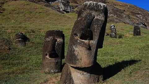 A seemingly curious moai nods while pondering an observation.  (Lieutenant Elizabeth Crapo / NOAA Corps)