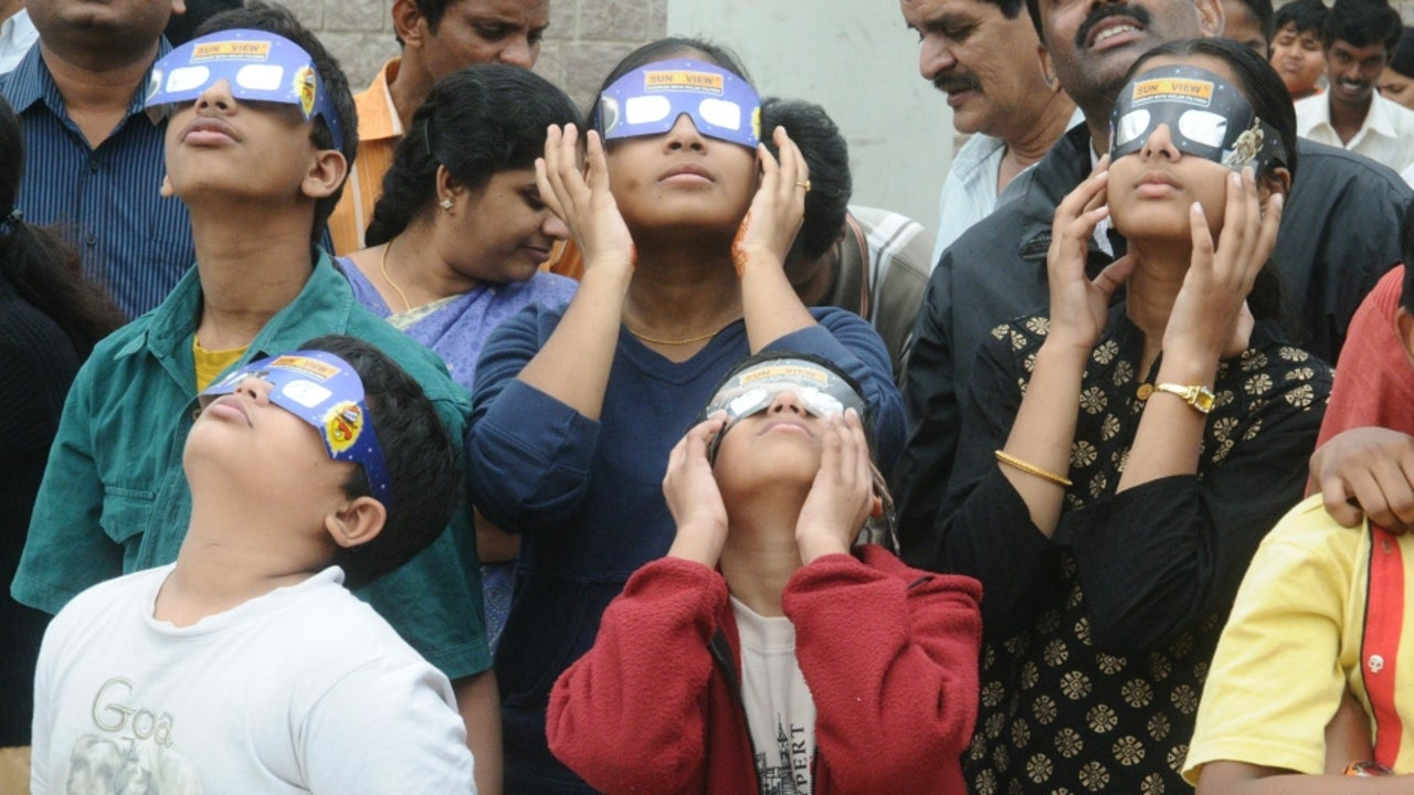 Watching a solar eclipse without safety equipment can scorch and burn one's retinas, and even cause permanent blindness.
