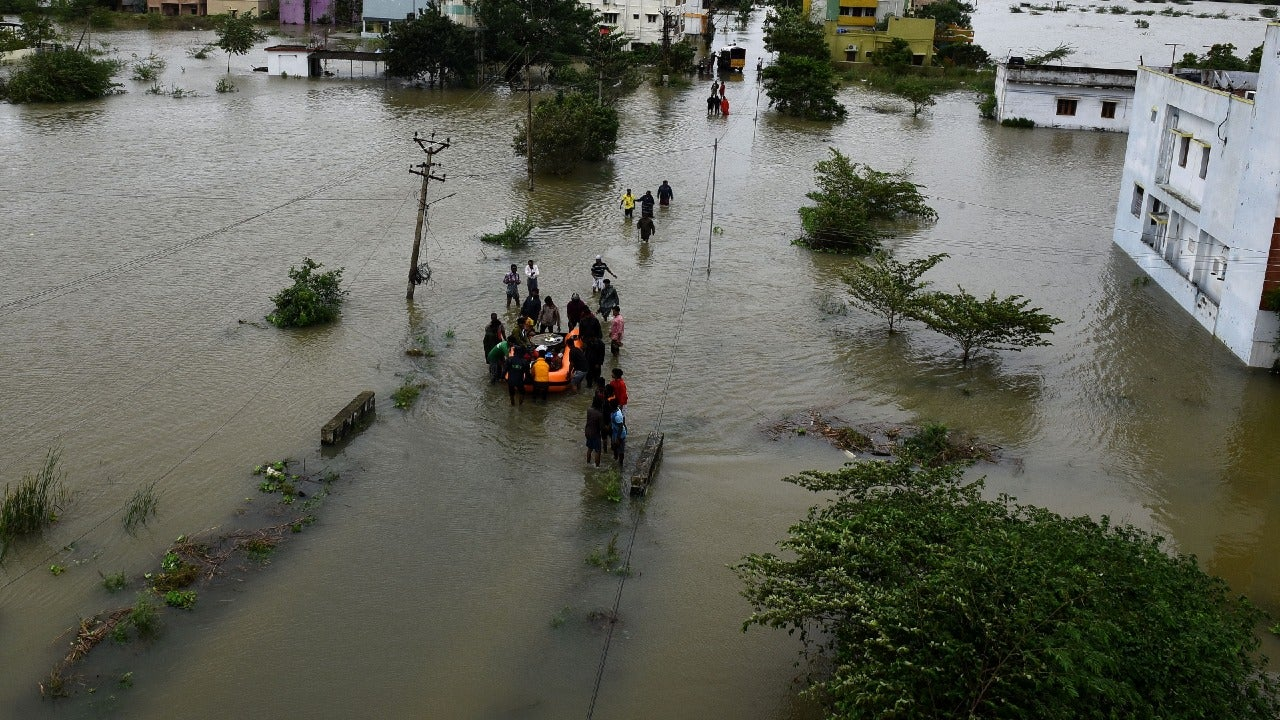 The cyclone killed three, while causing severe waterlogging and damage to property across Southern Peninsular India.