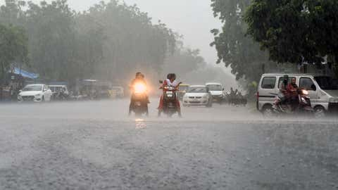 Heavy rains lash Ahmedabad, Gujarat. (Yogesh Chawda/BCCL Ahmedabad)