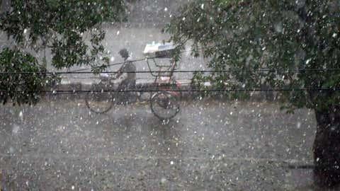 Representational image of a hailstorm (Tarun Rawat / BCCL, Delhi)