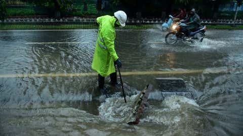A glimpse of heavy rains in Hyderabad this week (Ram Moorthy / BCCL, Hyderabad)