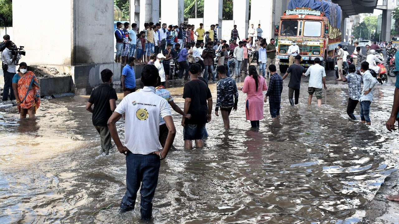 Just days after receiving its heaviest downpour in over a century and experiencing one of its worst deluges, Hyderabad witnessed flooding once again on Sunday, October 18.