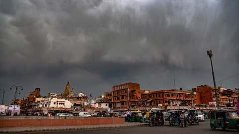 File photo: Dark clouds over Jaipur. (Bhagirath Basnet/TOI, BCCL)