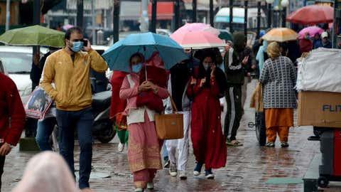 Rain in Jammu. (Bilal Bahadur/TOI, BCCL, Delhi)