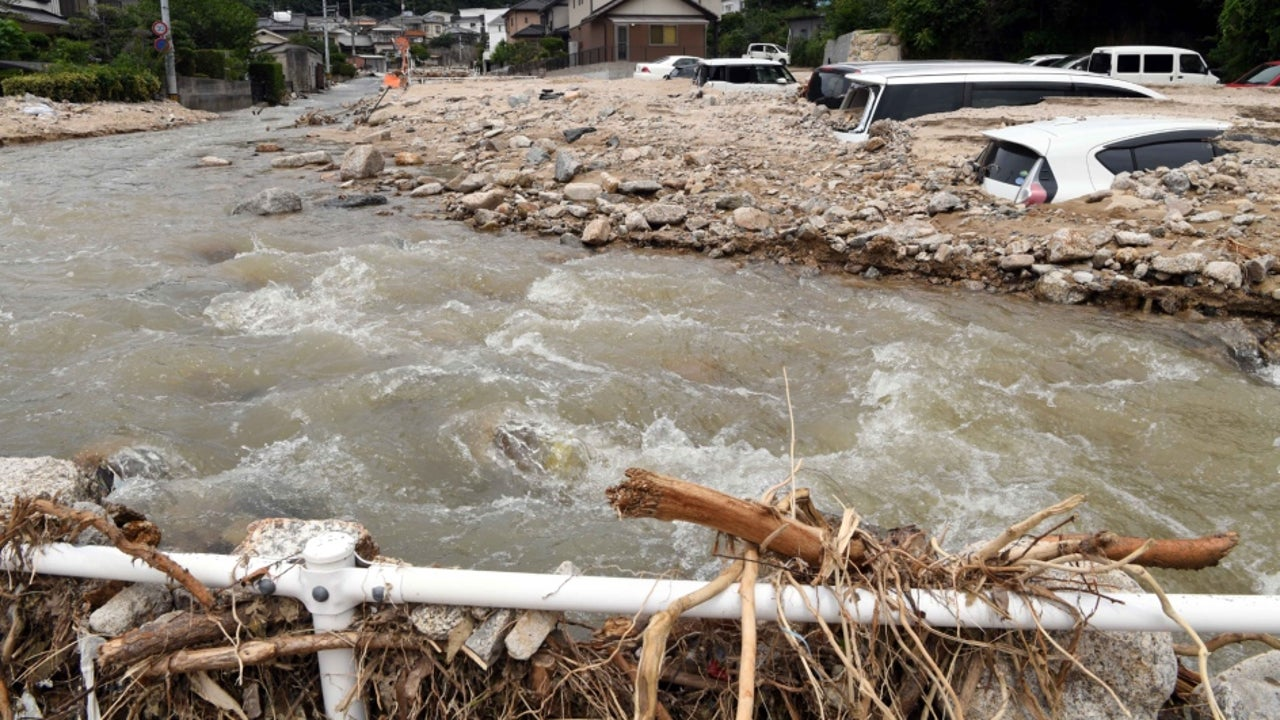 Japan floods on Sunday claim 15 lives while 9 others reported missing in Japan's southern island of Kyushu as heavy rains cause floods and landslides across the region.