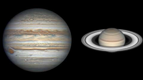 Cosmic Conjunction Saturn And Jupiter To Unite Appear As One Bright Light In The Sky On December 21 The Weather Channel Articles From The Weather Channel Weather Com