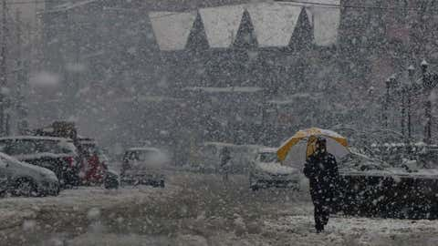 File photo: Snowfall in Srinagar, Kashmir (Bilal Bahadur/TOI, BCCL, Delhi)