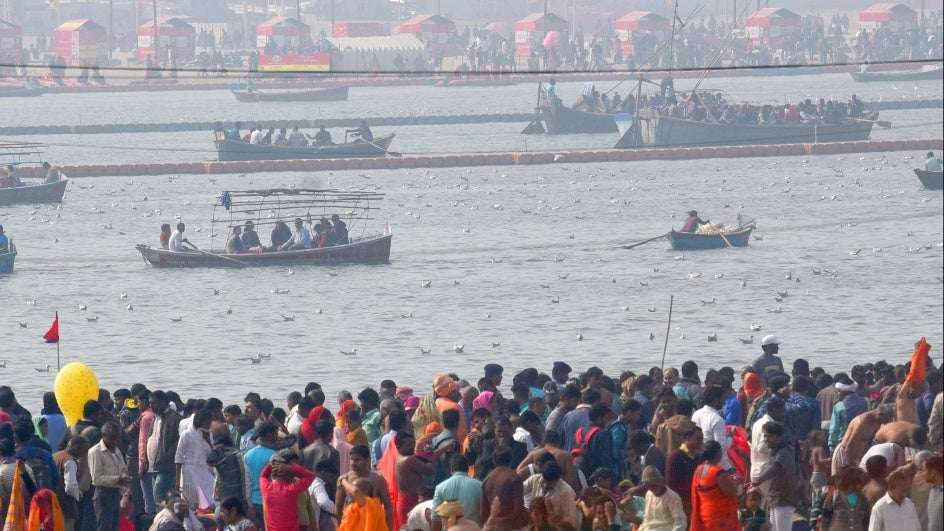 Kumbh 2019: Ganga Brims, Reaches Decade-High Level