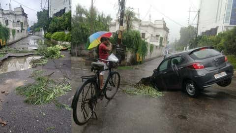 Heavy rains wreaked havoc in various parts of Lucknow on September 16.  (IANS)
