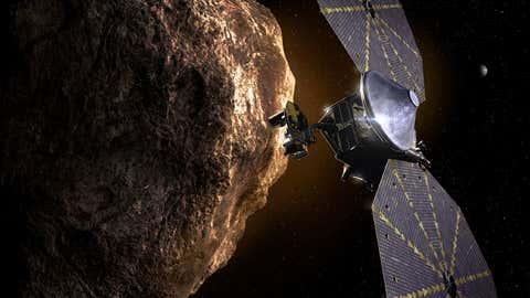 Illustration of Lucy spacecraft. (NASA)