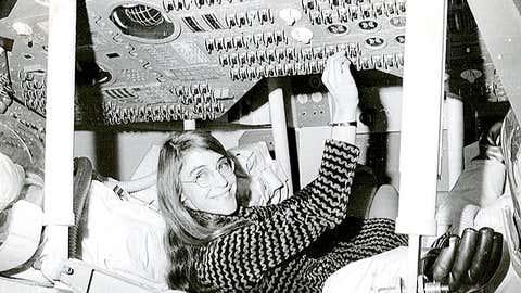 Margaret Hamilton in action. (NASA)