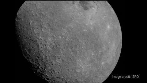 The Moon clicked by the LI4 camera on board Chandrayaan-2 on August 22.