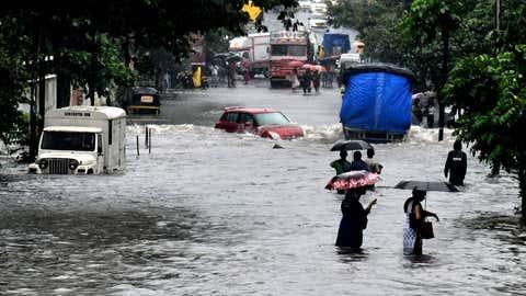 Heavy rains led to waterlogging in Mumbai. (KK Choudhary/TOI, BCCL, Mumbai)