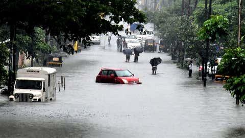 Flooding in Navi Mumbai due heavy rain. (KK Choudhary/TOI, BCCL, Mumbai)