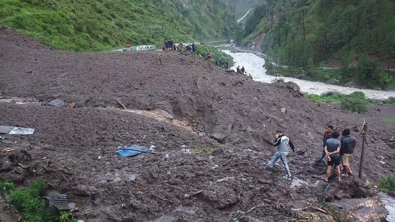 Landslides caused by heavy rainfall claim 11 lives in Nepal's Myagdi district while 23 have been reported missing, with 43 houses being buried in the landslides in the district.