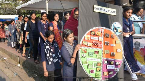 File photo: PG Students in Food Science and Nutrition of Department of Home Science staged an awareness rally at Vanchi Square in Kochi. (Jipson Sikhera/TOI, BCCL)