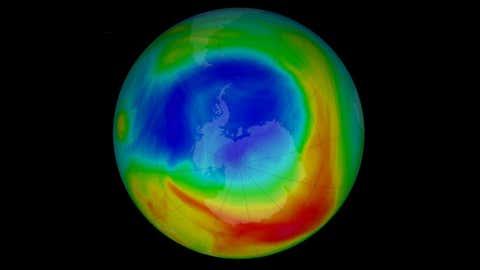 Ozone hole.(www.nasa.gov)