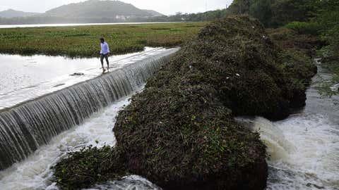 Overflowing Pashan lake in Pune. (Aditya Waikul/TOI, BCCL, Pune)