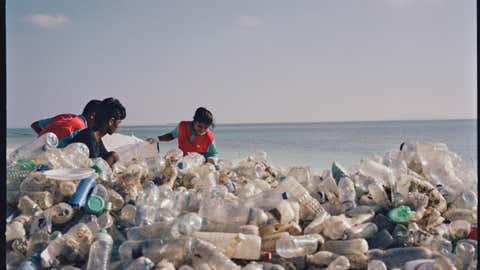 File photo: A 2017 report by the United Nations revealed that about 8 million tons of plastic enters the sea every year and at that rate, plastics would outweigh fish in the ocean by 2050. (BCCL, Mumbai)