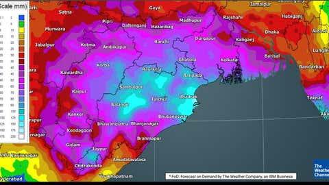 Total rain accumulation. (TWC Met Team)