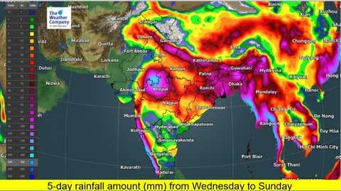 Total rainfall accumulation. (TWC Met Team)