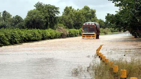 Heavy rains lashed several parts of Karnataka on Sunday, July 25, 2021. (IANS)