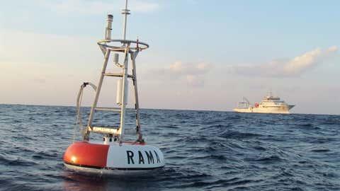 Rama buoy floating in Indian Ocean. (NOAA)