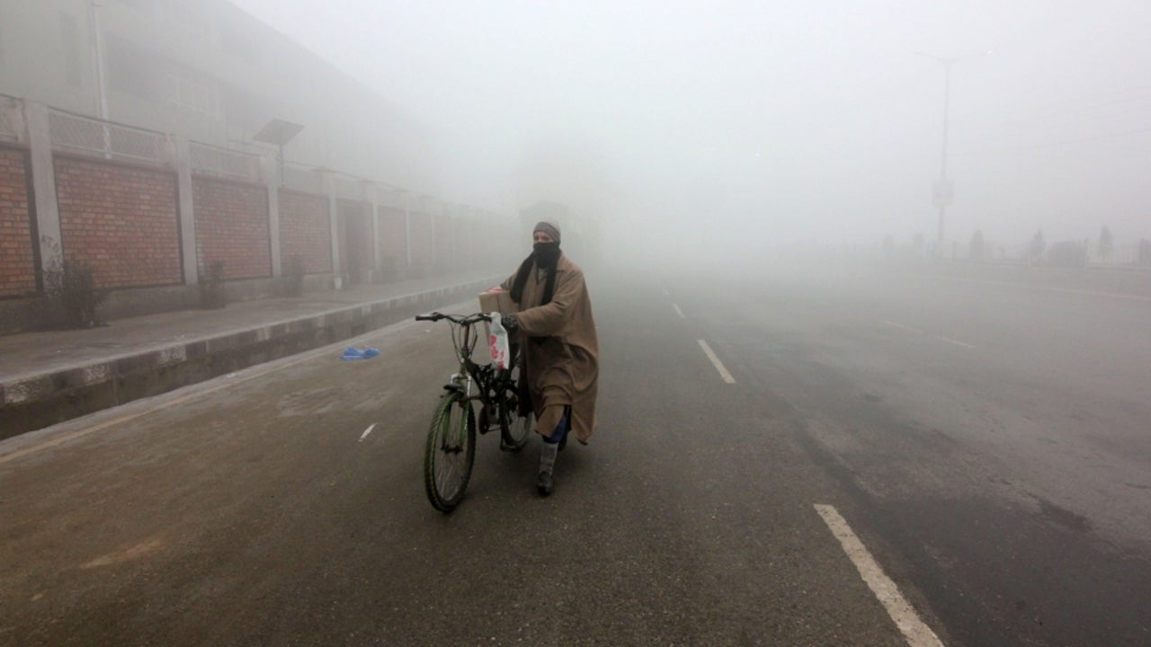 For the last ten days, Kashmir has mostly seen dry weather with a slow wind speed, resulting in foggy conditions.