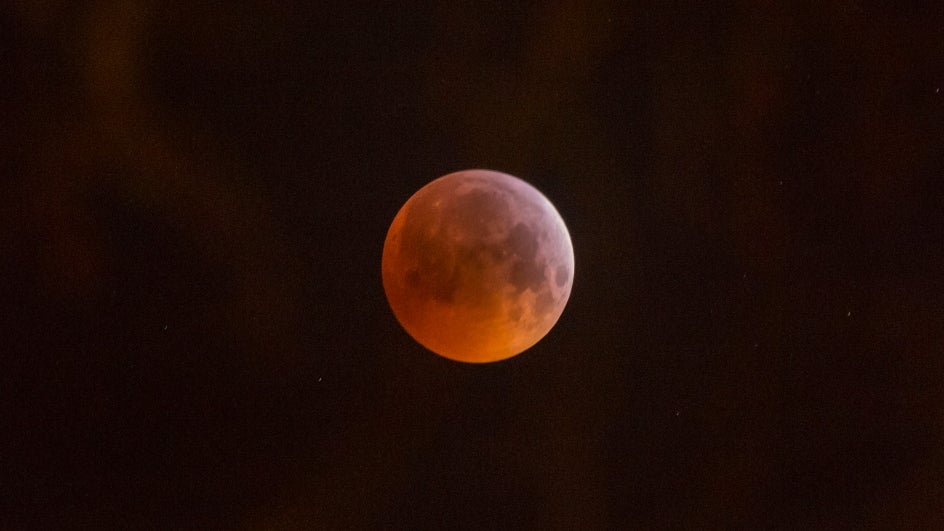 Onlookers Gape in Amazement at the Sight of 'Super Blood Moon'