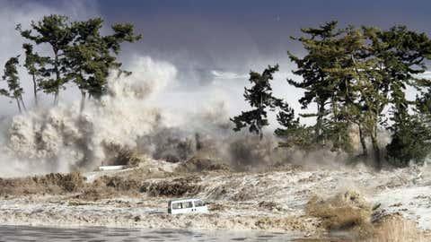 File photo: Tsunami waves hitting the coast of Minamisoma in Fukushima prefecture, Japan on March 11, 2011.(Sadatsugu Tomizawa CC BY-NC-ND 2.0/NASA)