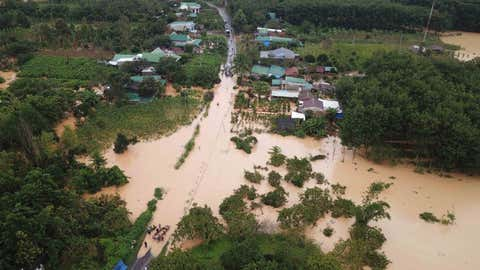 File photo: Floods triggered by heavy rains inundating roads and residential areas in Lam Dong province, Vietnam, last year. (Xinhua/IANS)