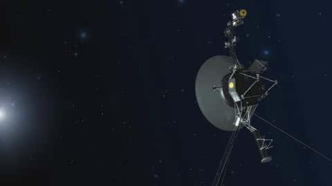 Voyager 1 spacecraft in interstellar space. (NASA/JPL-Caltech)