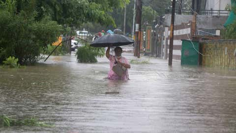 Heavy rains Lucknow. (V Sunil/BCCL Lucknow)