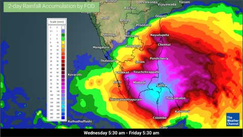 Cyclone Burevi To Cross Sri Lanka And Hit India S Southern Tip On Thursday Night Tamil Nadu Kerala Under Alert The Weather Channel Articles From The Weather Channel Weather Com