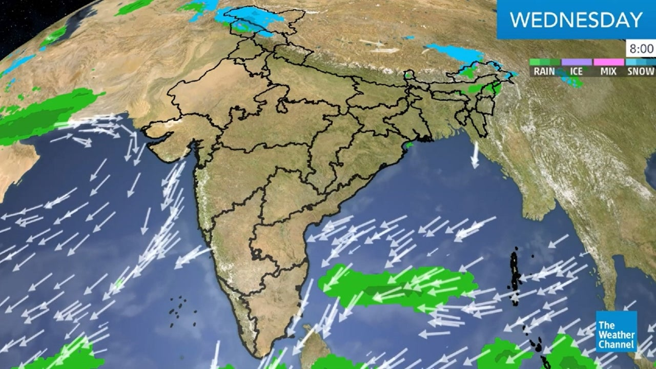 Here's the latest weather forecast for India.