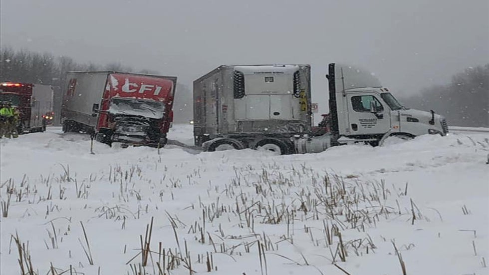 Winter Storm Jayden: 2 Pileups Shut Down Highways in