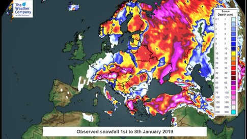 Snow Map Europe.Deadly Avalanches And Blizzards Bring Tragedy In Europe The