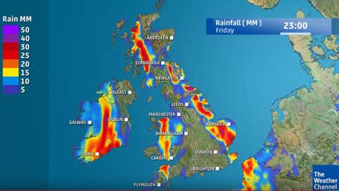 Heavy rain is expected in some areas through Friday
