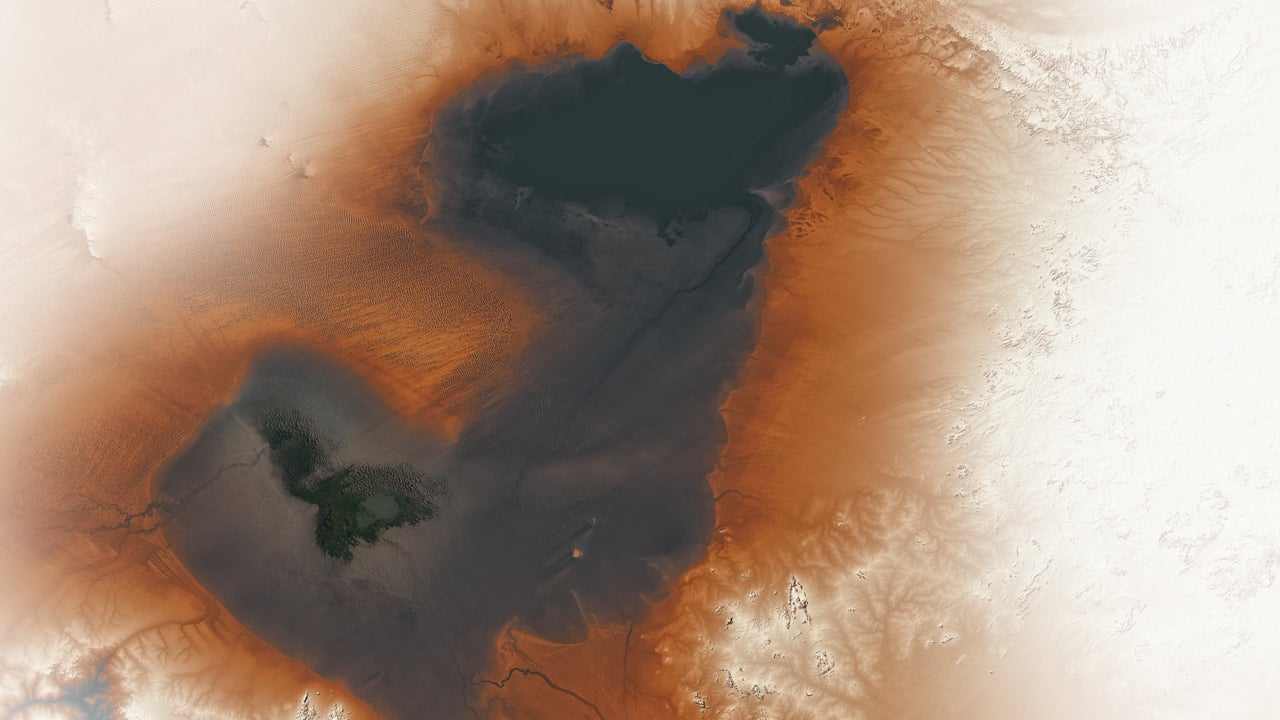 Lake Chad currently covers only a fraction of what it once did.