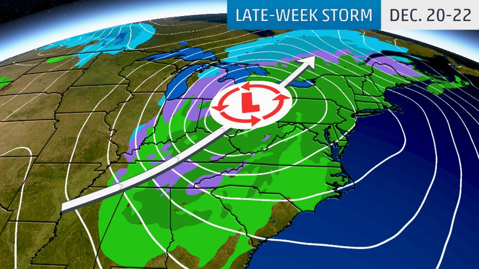 Late Week Storm May Cause Pre Christmas Travel Delays In The East