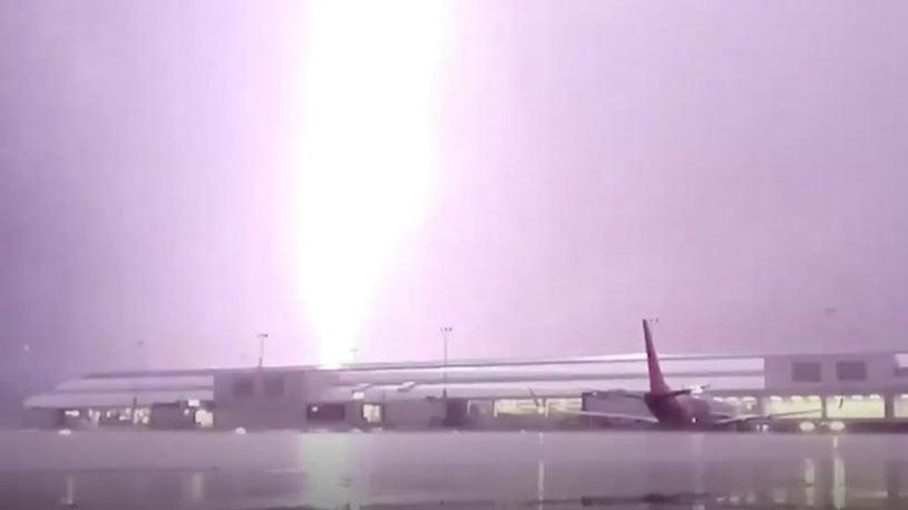Massive Lightning Strike Scars Jacksonville Airport Tarmac