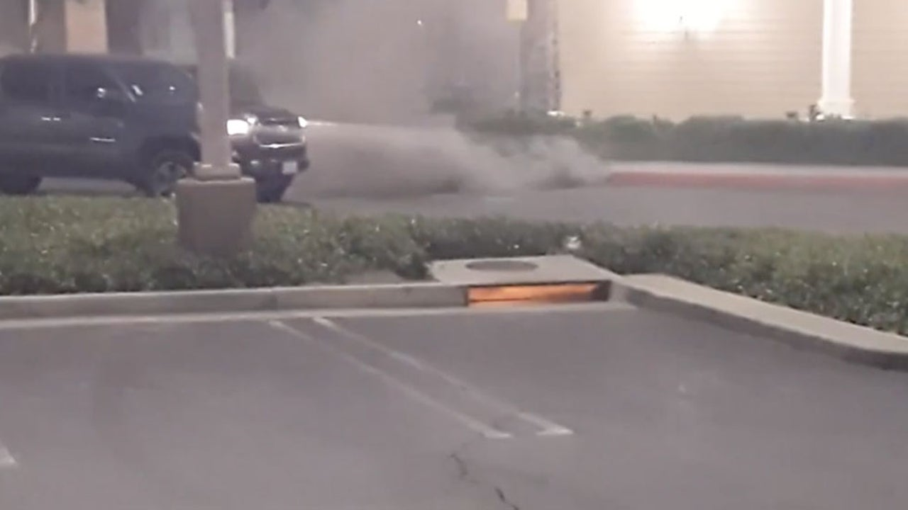 Wildfire Smoke, Flames Emerge From Underground Sewers in California