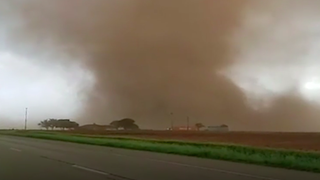 Oh My Huge Tornado Pes Right In Front Of Car