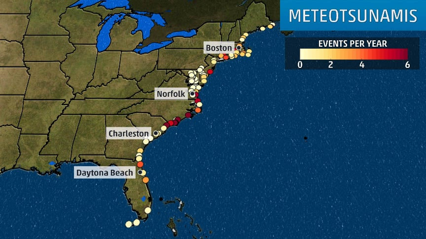 NOAA Research Finds East Coast is Hit by 25 Meteotsunamis Each Year