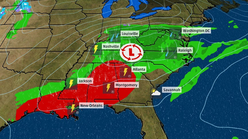 Severe Storms Possible for Southeast